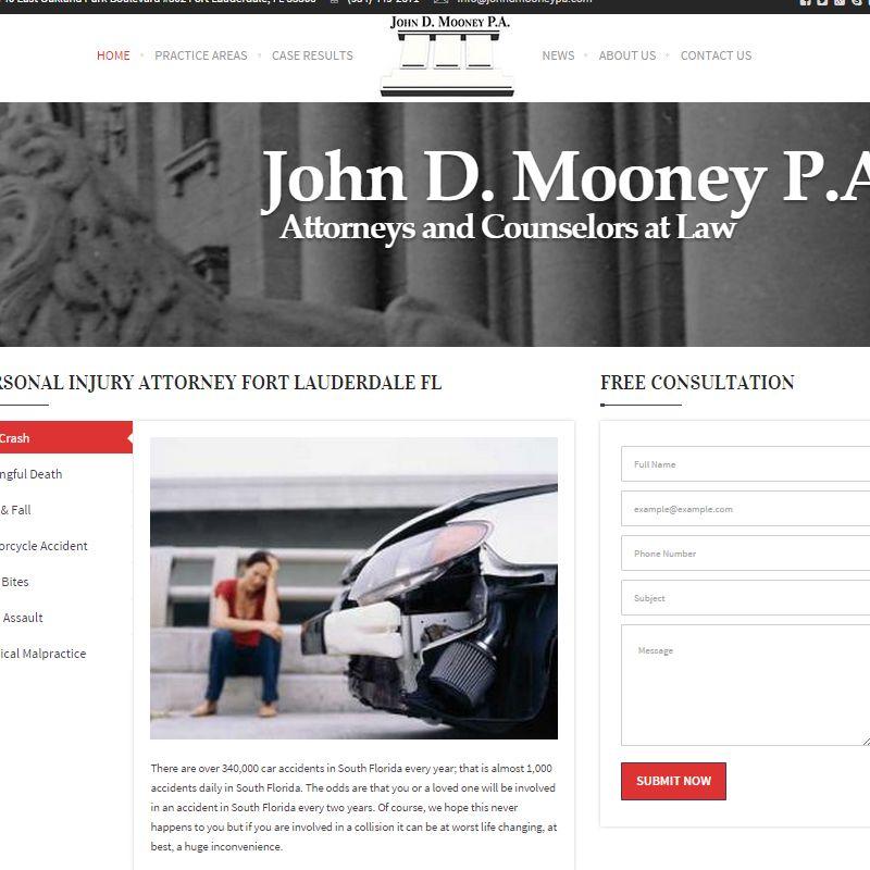 John D Mooney Pa Personal Injury Attorney Website Design Fort Lauderdale Http Gordowebdesign C Personal Injury Attorney Injury Attorney Fort Lauderdale