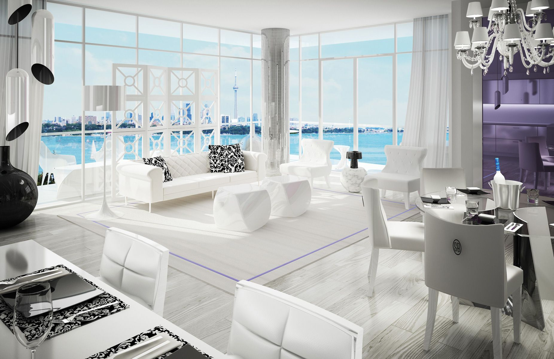European Touch Unique Art Deco Penthouse Interior Home Design And ...