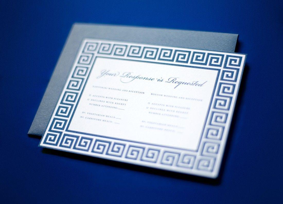 Greek wedding invitations | My Wedding | Pinterest | Greek wedding ...