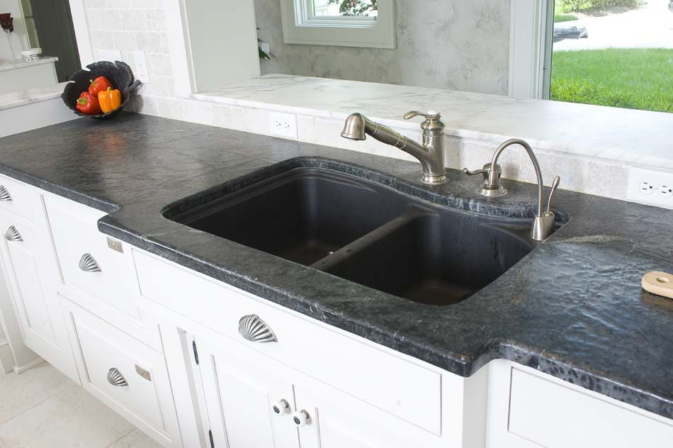 Black Soapstone Kitchen Counter Countertops Countertop For Your