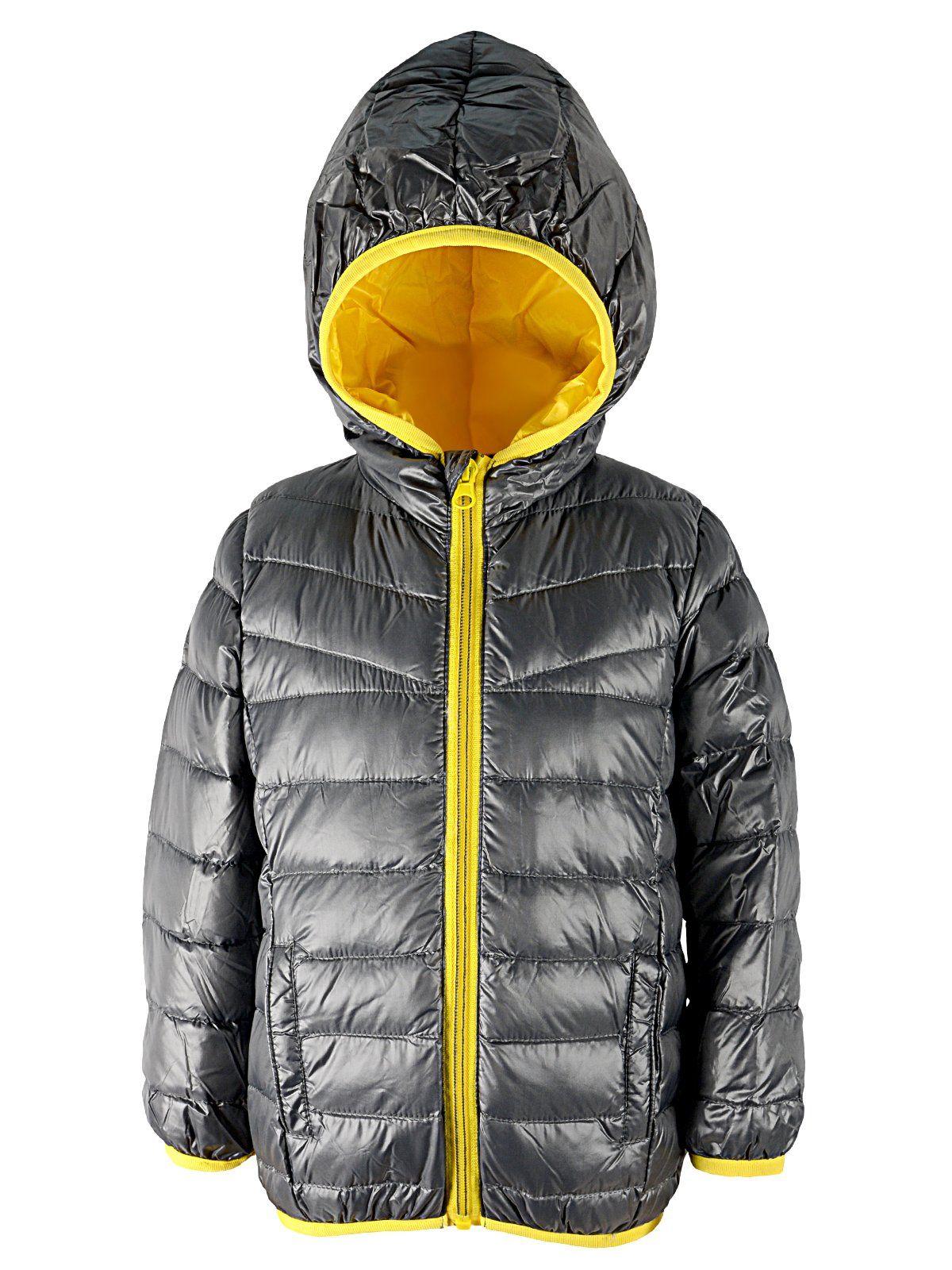 Century Star Kids Windproof Puffer Hoodie Down Jacket Boys Winter Warm Packable Outwear Coat Silver Black Yellow 6 6x Shell 100 N Puffer Jackets Warm Down [ 1600 x 1200 Pixel ]