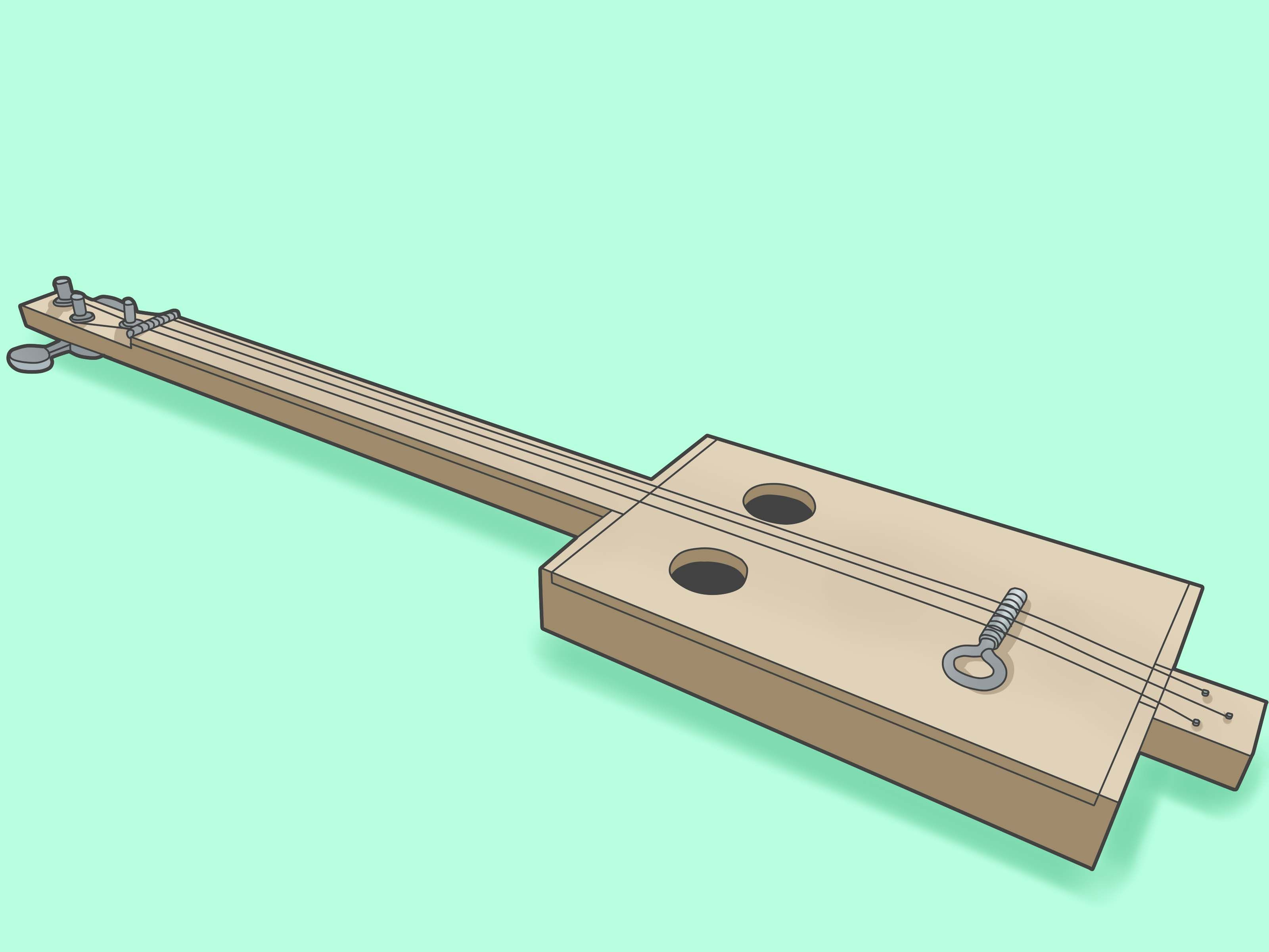 construir una guitarra de caja de puros sencilla | Pinterest | Cajas ...