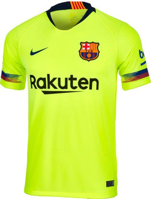 2018 19 Nike FC Barcelona Away Match Jersey. At www.soccerpro.com e995e4a86