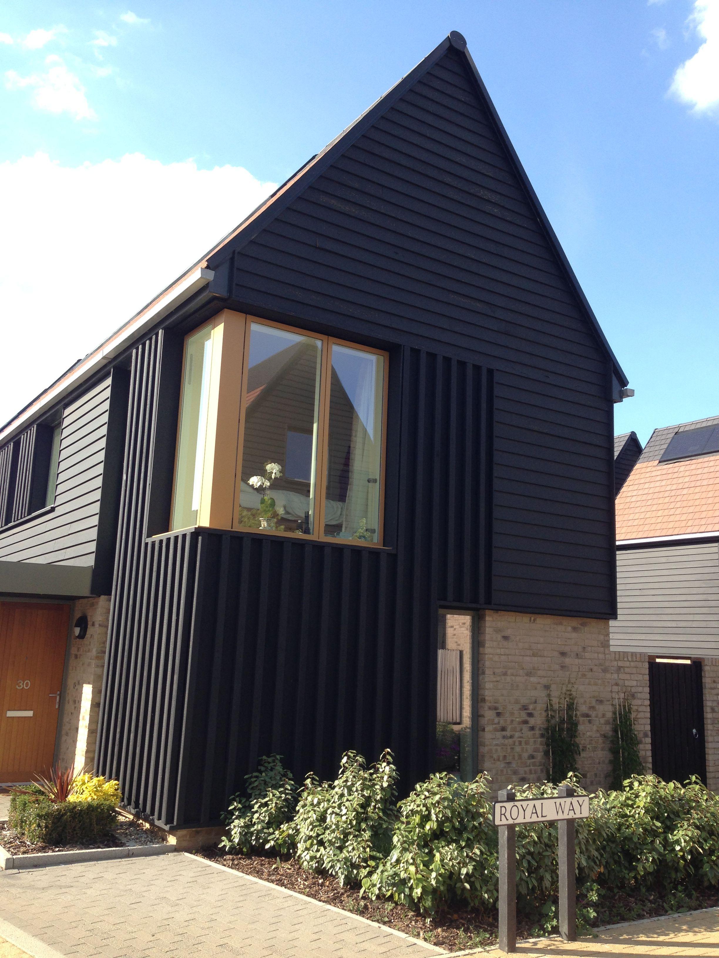 black vincent timber clad houses | Proctor Matthews - Abode - Great Kneighton - Cambridge ...