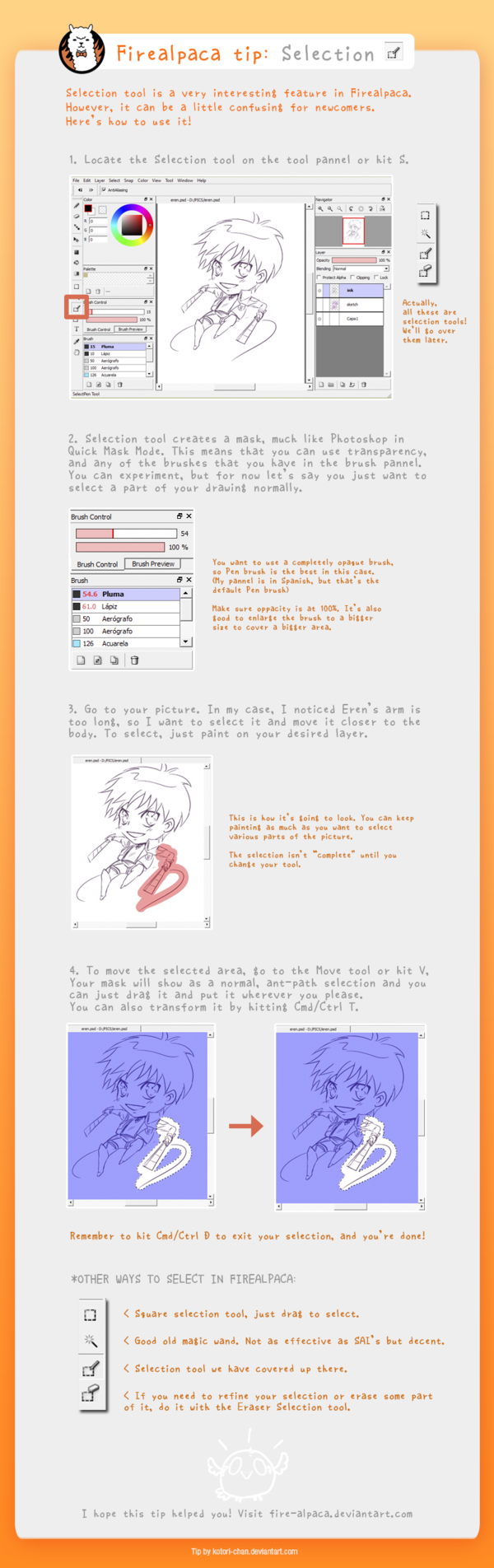 Firealpaca tip: Selection by kotori-chan deviantart com on