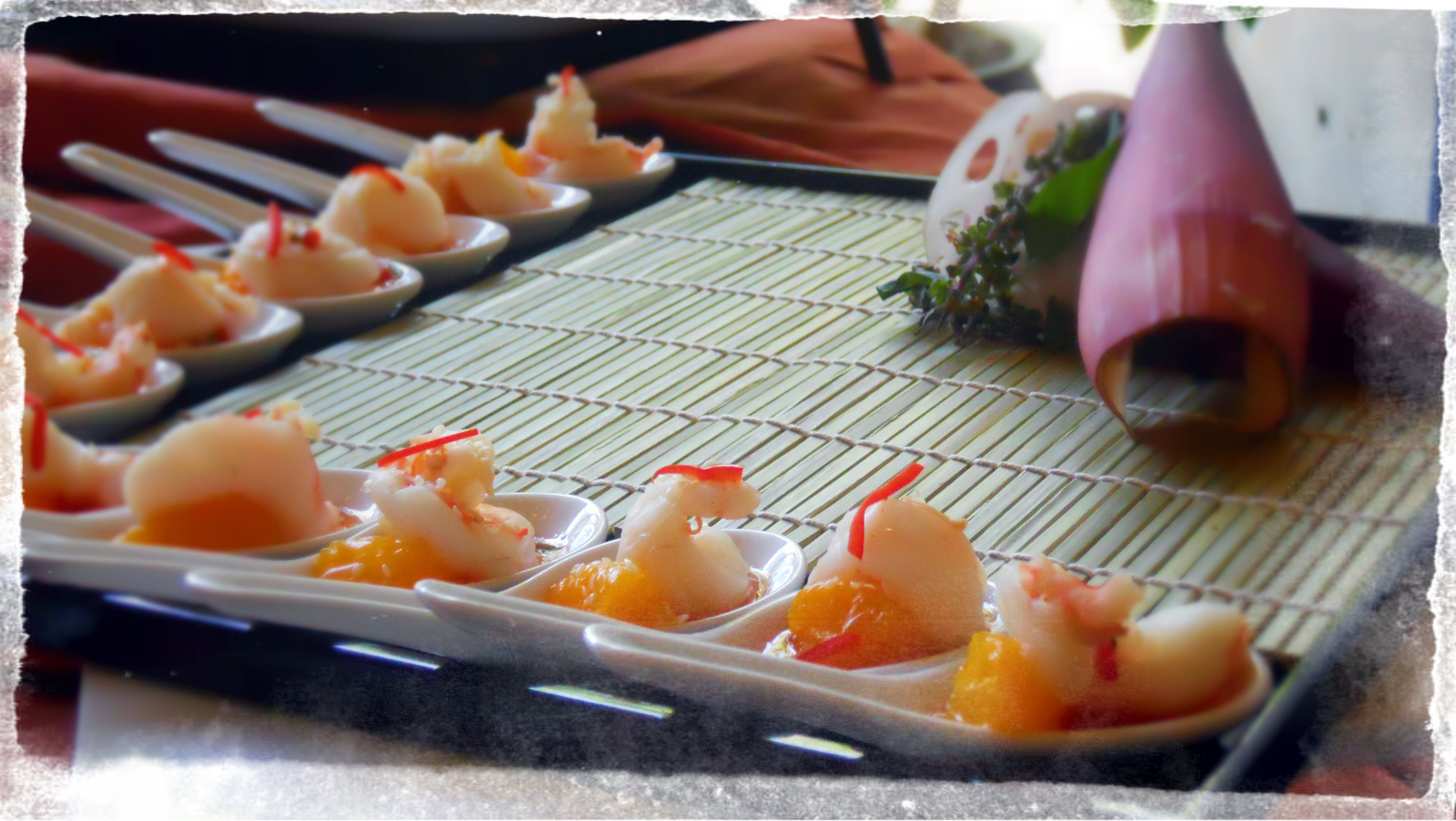 Chefs Table Catering Philadelphia Asian Citrus Shrimp With - Chef's table catering