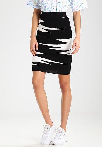 £: ILDA - Minigonna - palm white/black