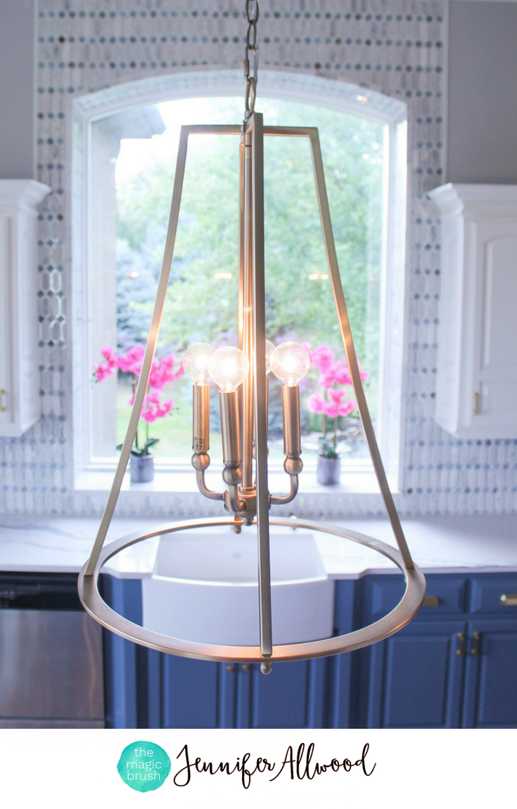 Gold kitchen lighting that has me totally obsessed lighting