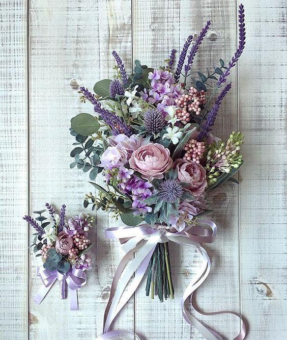 2019 BRIDES FAVORITE WEEDING COLOR: STYLISH SHADE OF PURPLE #purpleweddingflowers
