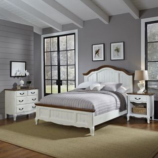 The French Countryside Queen Bed, Night Stand, and Chest | Overstock ...