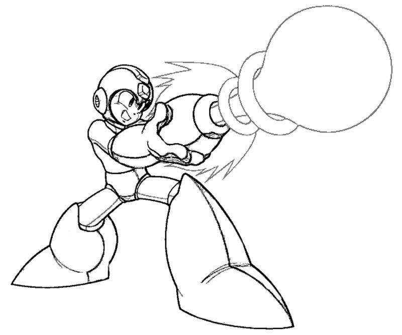 random mega man coloring pages mewarnai megaman pinterest