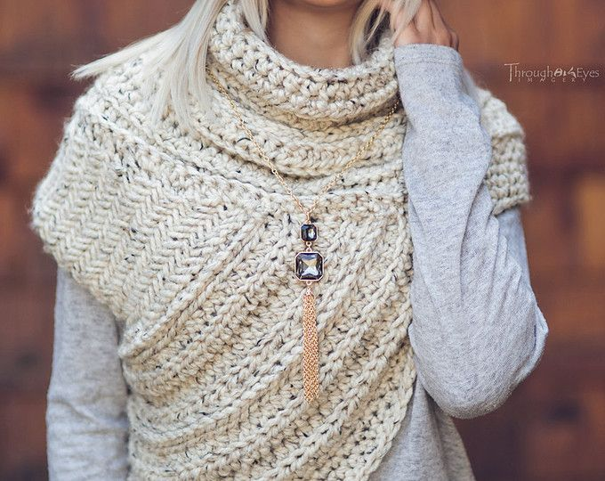 Katniss Inspired Cowl - Huntress Cowl Vest Scarf- Handmade- Knit ...