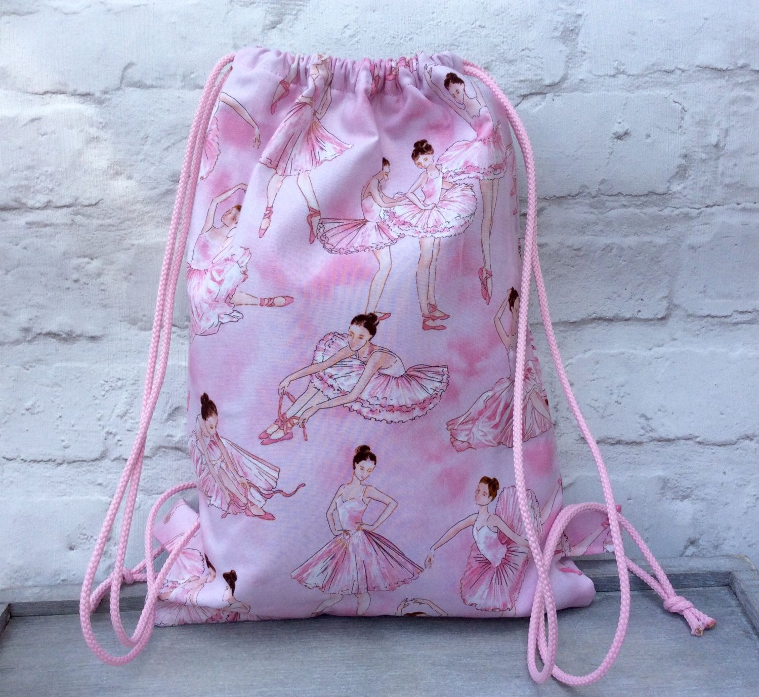 Drawstring Backpack, Backpack, Girls Backpack, School Bag, Ballet ...