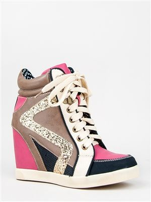 59fd7af948c7 Bamboo JODIE-01 Glitter Wedge Sneaker | Shop Shoes | Awesome ...