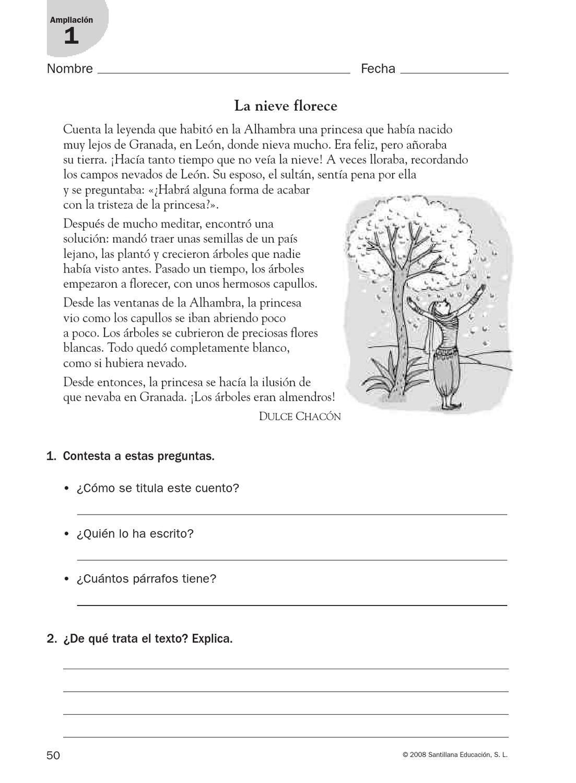 refuerzo lengua cuarto | Lecturas | Lectura de comprensión, Lecturas ...