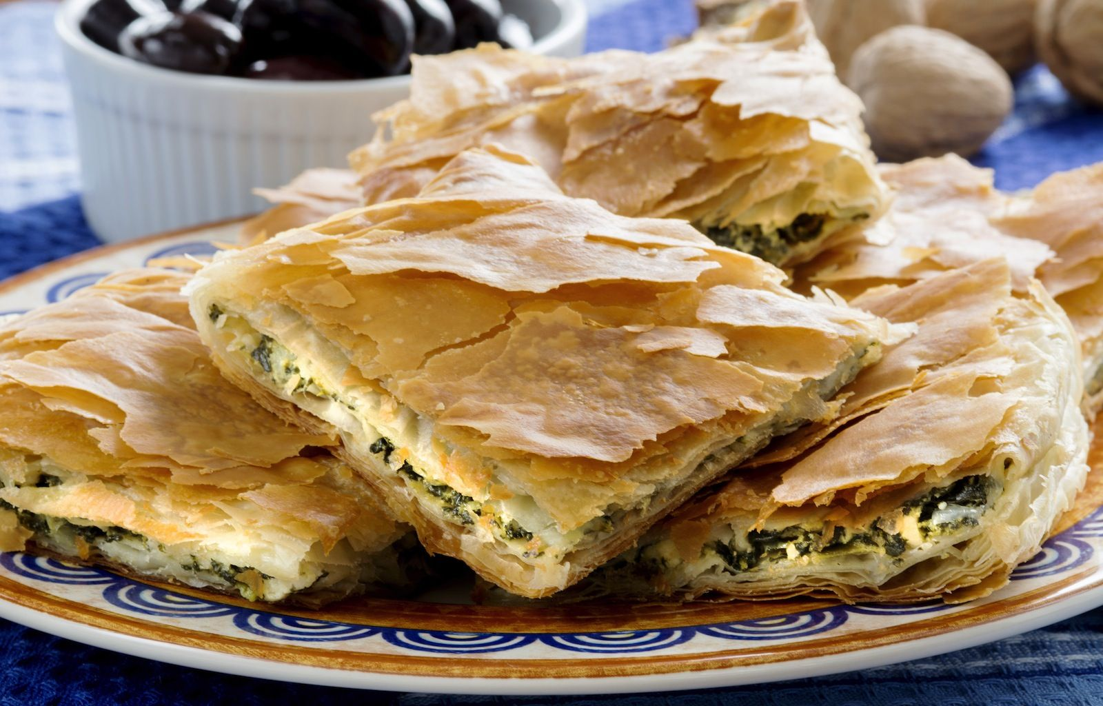 Greek spinach pie with feta cheese