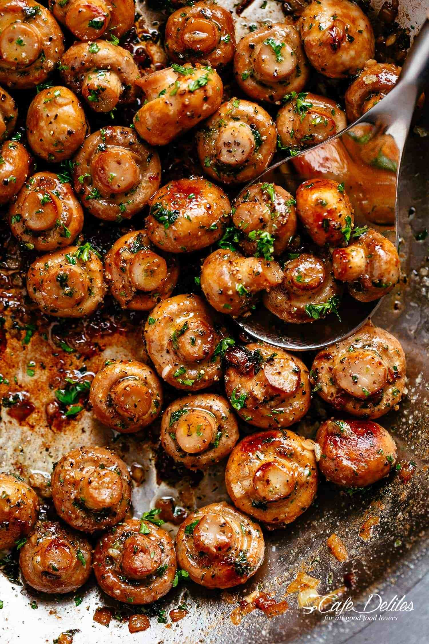 Garlic Mushrooms #summerdinnerseasy
