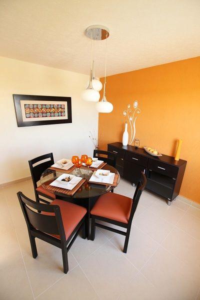 Comedor tonalidad naranja sala comedor pinterest for Colores para living comedor