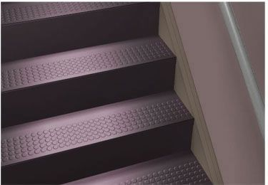 Wonderful Johnsonite® Rubber Stair Tread | One Piece W/Riser