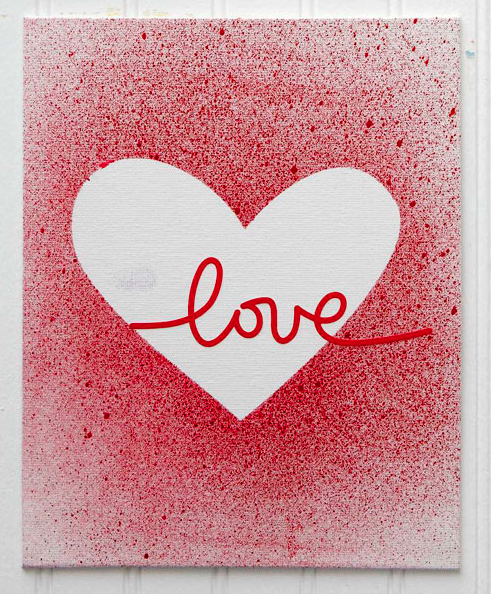 Makeyourown splatter paint Valentines Day cards  DIY Projects