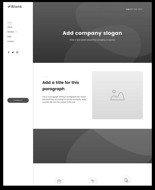 Blank Sidebar Website Template Design Builder Website Sidebar Design