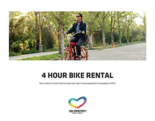 4 Hours Bike Rental in New York Experience Gift Card NYC - GO ...