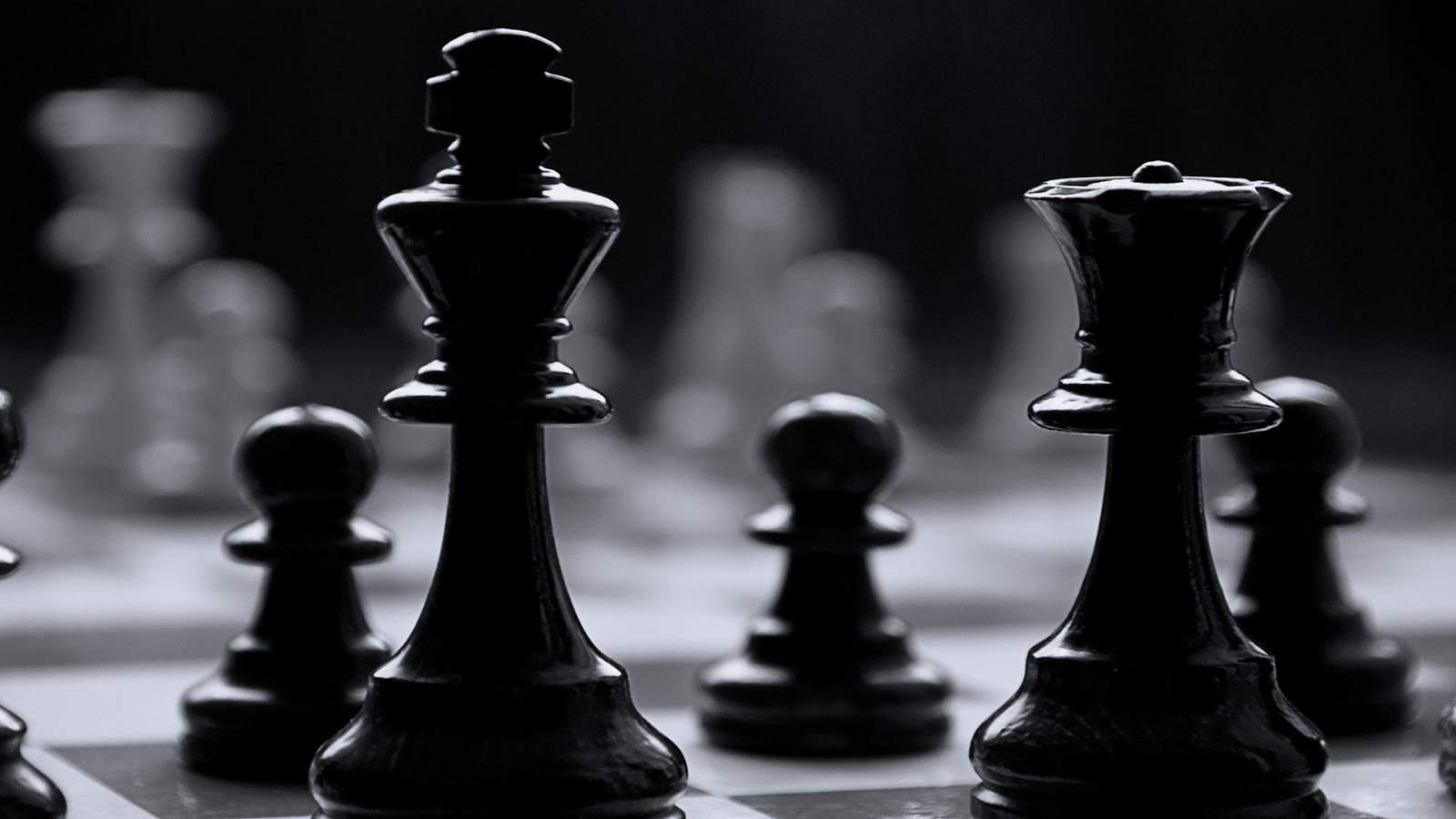 Black And White Chess Wallpaper