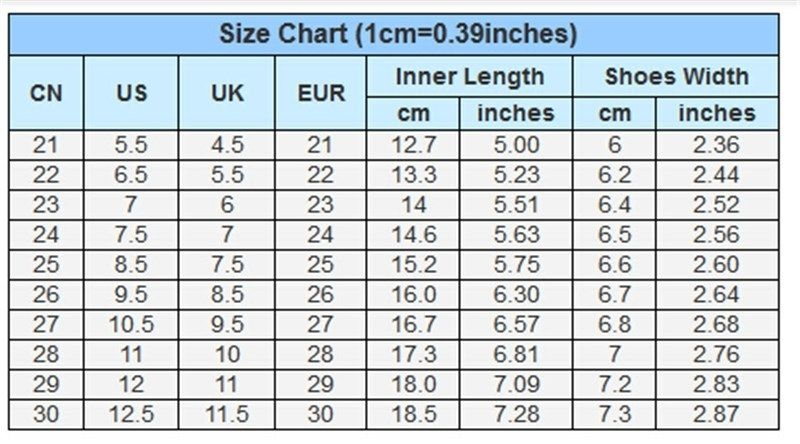 Aliexpress shoe size conversion guide My China Bargains