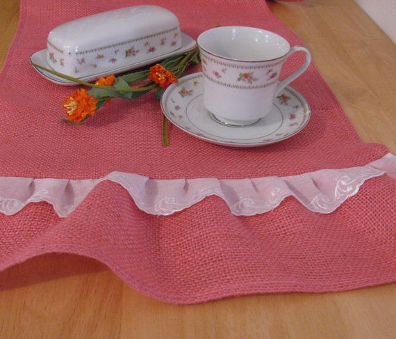 Burlap Table Runner  15 X 72 Shabby Chic Decor by supplierofdreams, $34.00