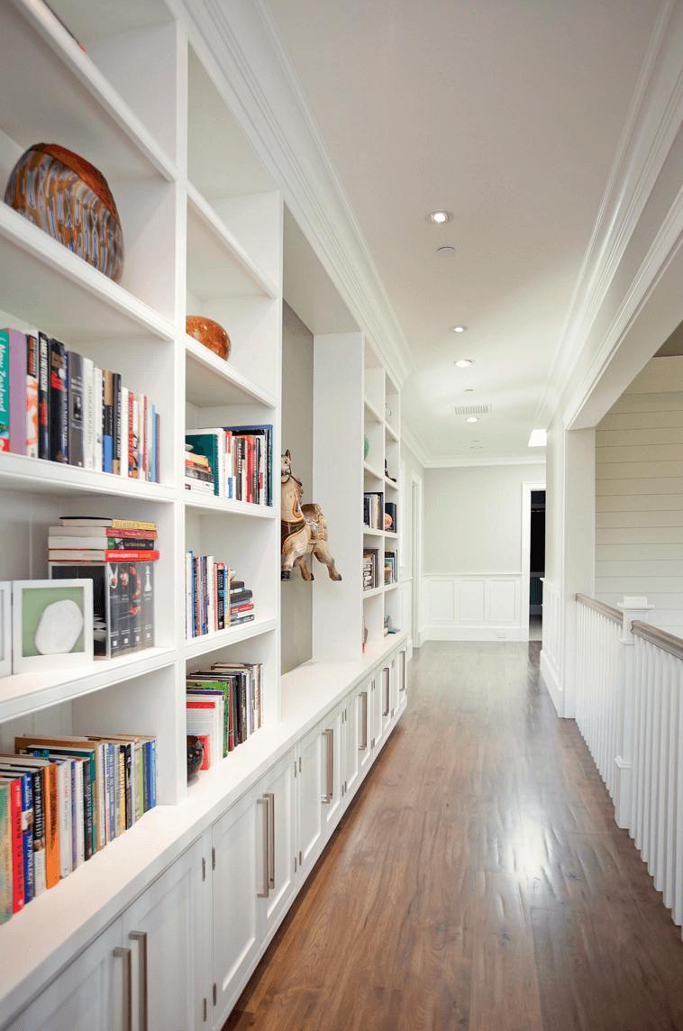 White Hallway Bookshelf