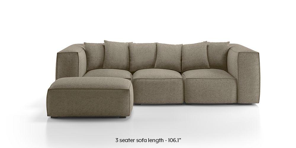 Chapman Modular Sofa Mist Brown Mist Fabric Sofa Material
