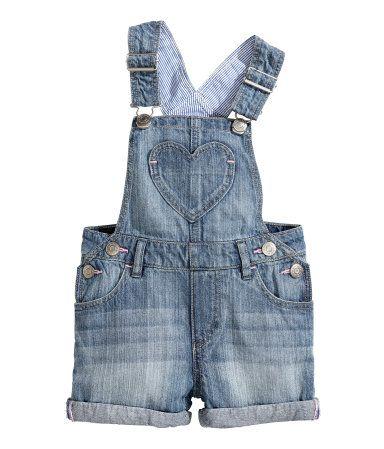 H Amp M Baby Girl Bib Overall Denim Shorts Baby Girl Kids