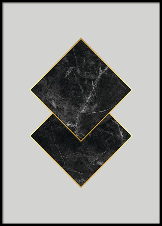 Black marble, poster in the group Posters & Prints / Sizes / 30x40cm | 11,8x15,7