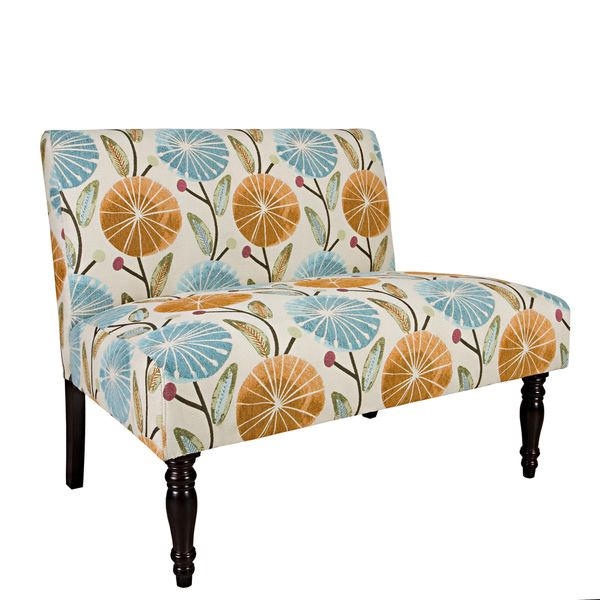 Angelo Home Bradstreet Water Blue Lilly Armless Settee