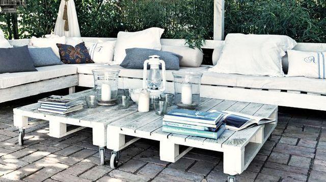 Palette en bois d co jardin en palette palette et meubles - Palette bois deco jardin ...