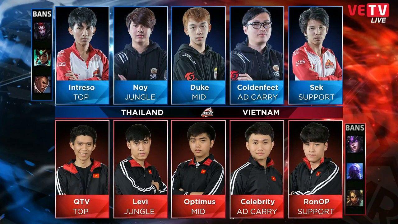 Việt Nam vs Thailand game 1 - Chung Kết Garena All-Star 2016 - Kịch tính.