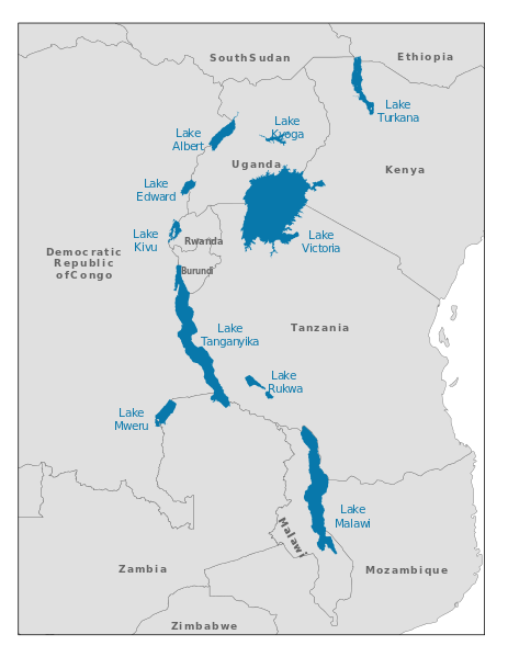 African Great Lakes is a region in East Africa. | Every Country