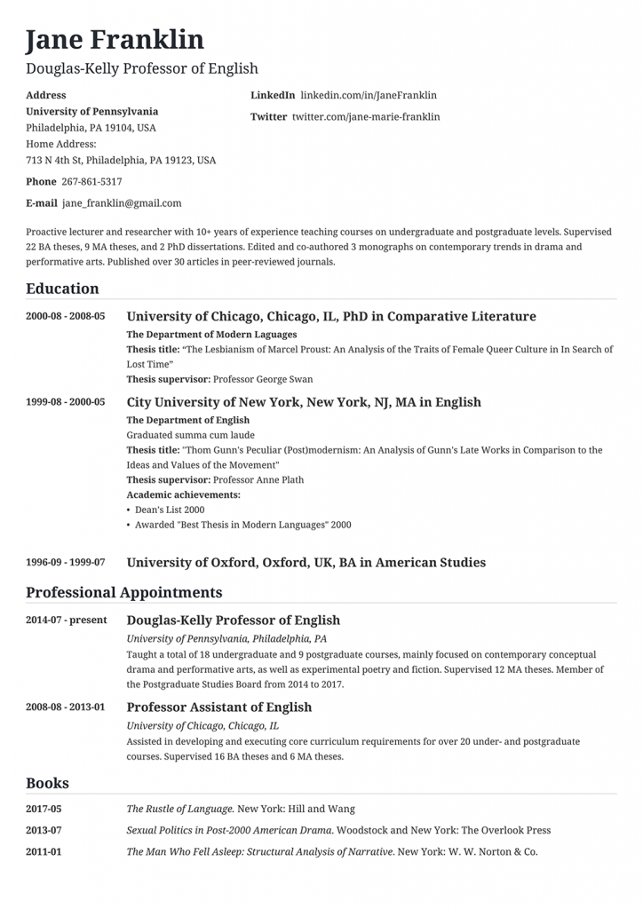 Medical Curriculum Vitae Example And Writing Tips Curriculum Vitae Examples Curriculum Vitae Format Curriculum Vitae Template