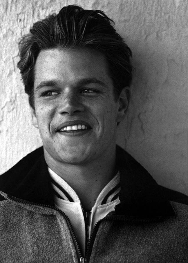 Matt damon i think he has one of the best smiles out of for Matt damon young