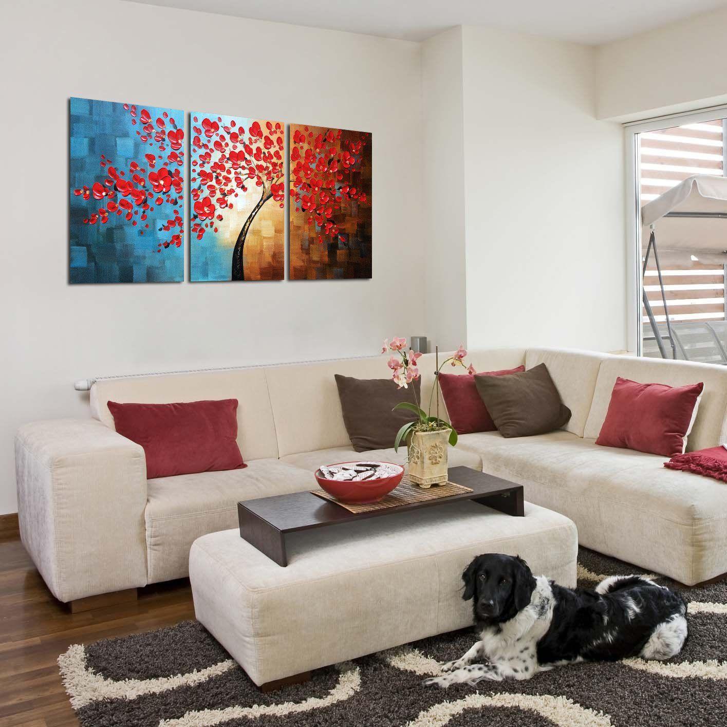 Winpeak Art Handpainted Abstract Oil Painting Modern Plum