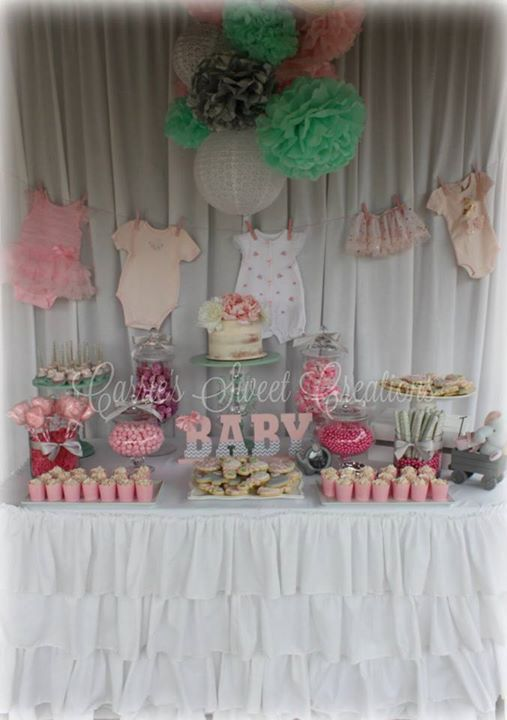 Baby Shower Dessert Table Set Up For My Daughter S Baby Shower We