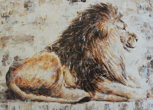 Kunstbild mit Löwe
