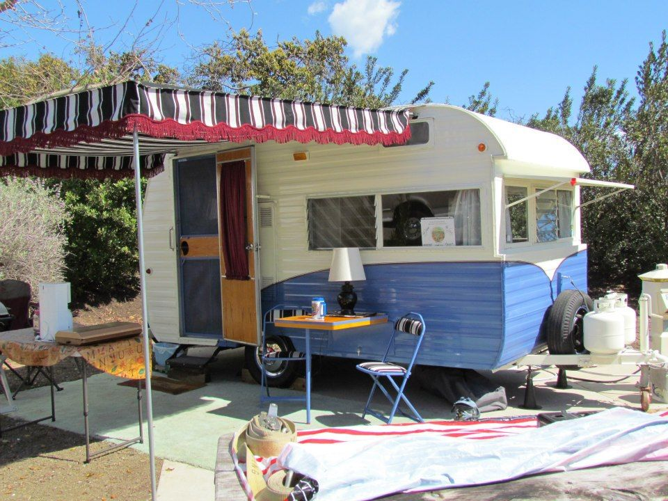 Shasta Vintage Camper Retro Makeover With Awning Glamping