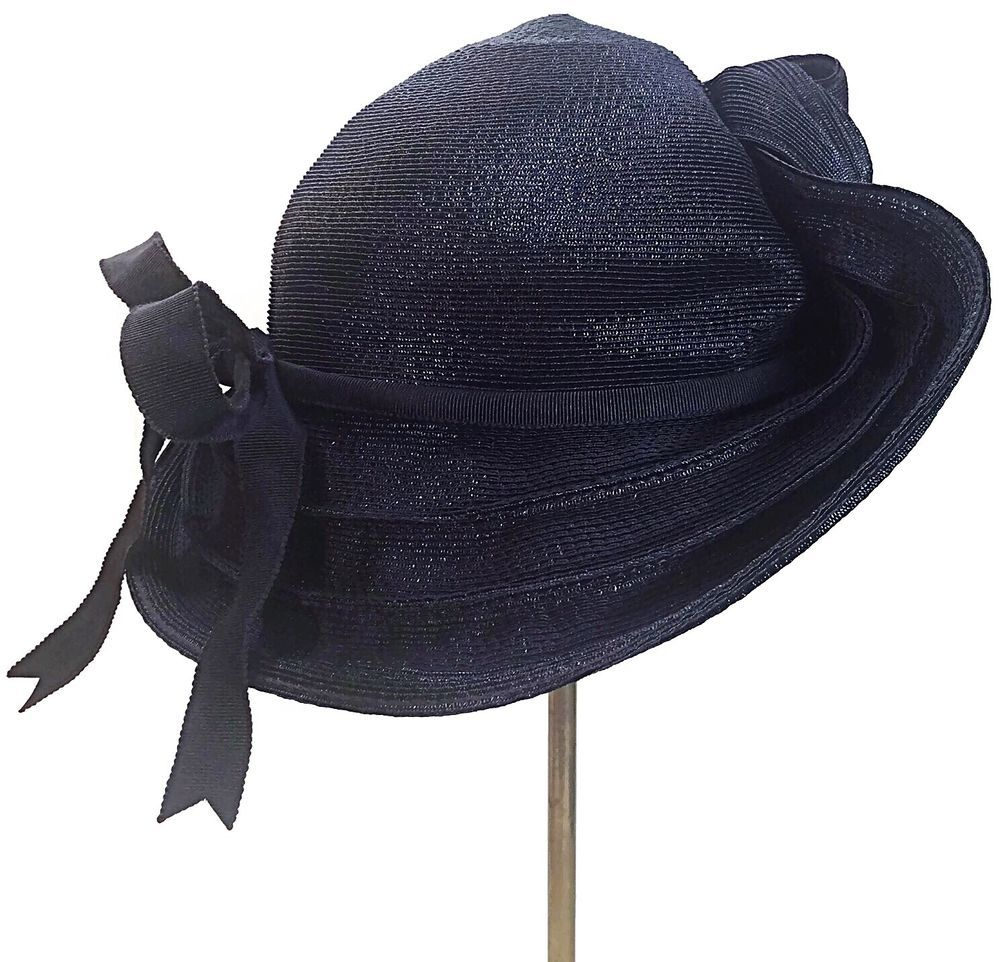 4ecbcd9c9 Vintage Women's Wide Brim Tilt Hat…   Vintage Women's Wide Brim Tilt ...