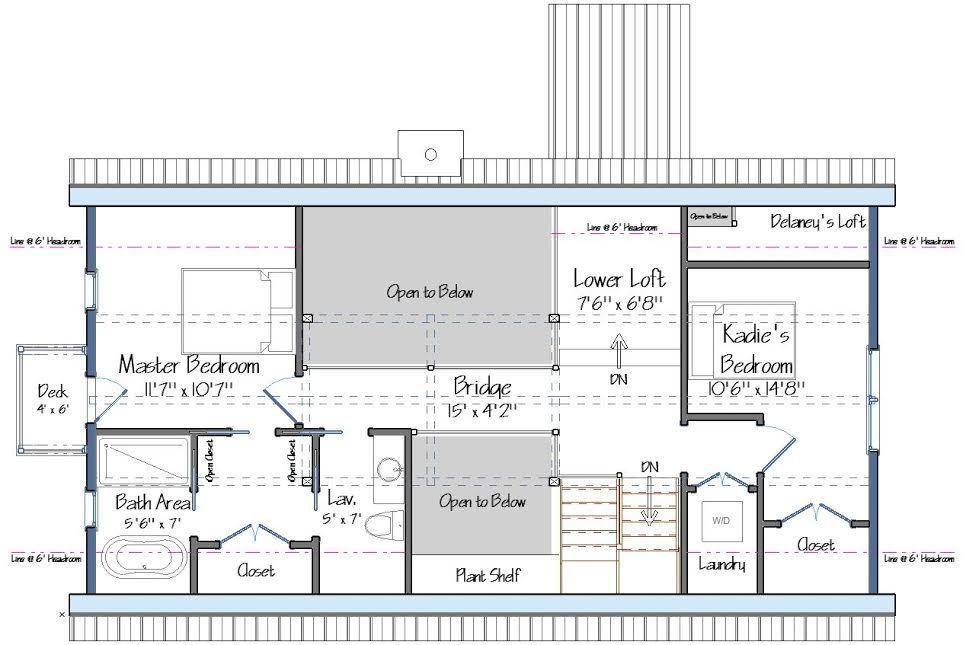 level two floor plan - Level Two Floor House Plans