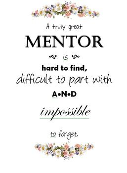 Mentor Teacher Appreciation Poster More