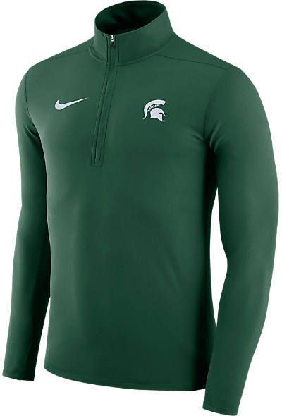 NIKE TEAM Men s Nike Michigan State Spartans College Element Half-Zip Shirt bc0f3f983