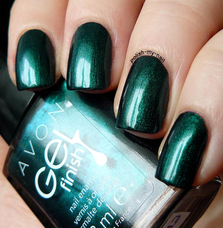 Avon Chrome Nail Powder: Polish My Nail: Avon - Gel Finish Envy