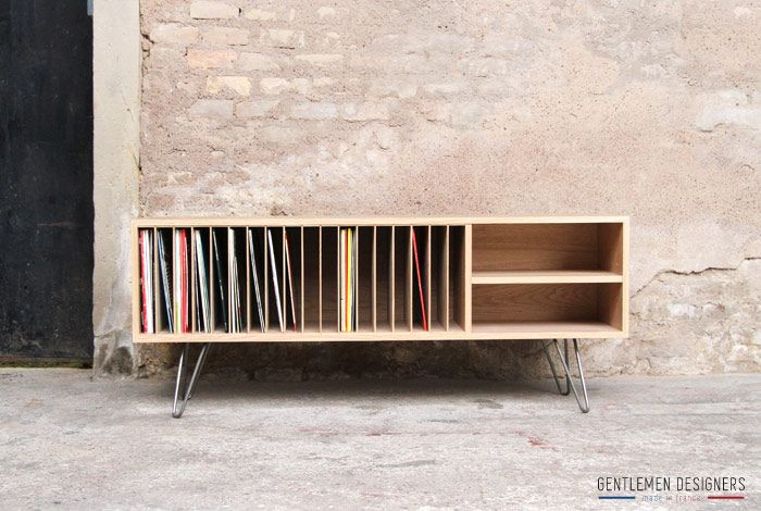 meuble de rangement vinyle vendu gentlemen designers. Black Bedroom Furniture Sets. Home Design Ideas
