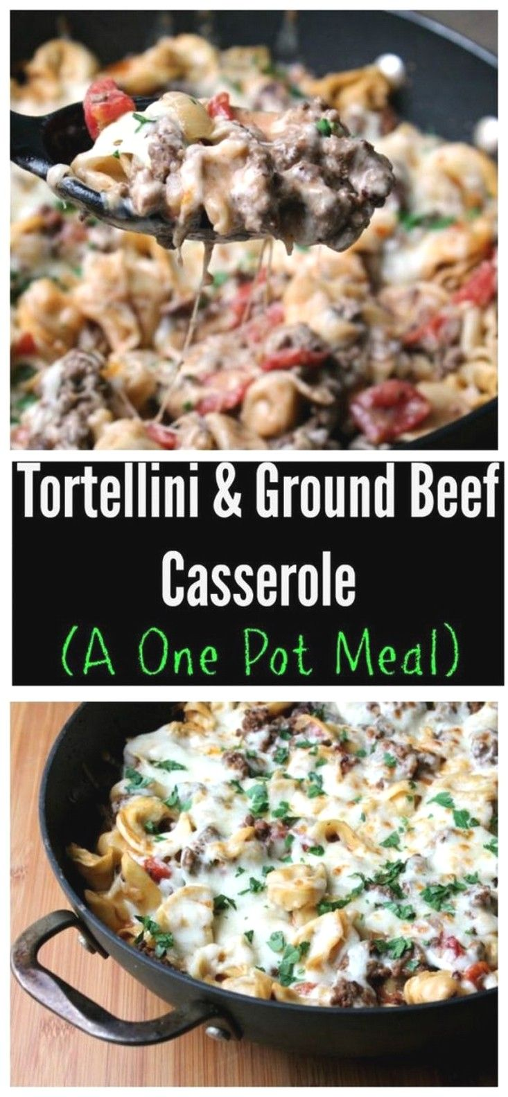 One Pot Tortellini and Ground Beef Casserole | Easy Beef Recipes Ideas images